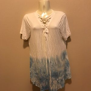 Tops - Blue and white ombré top
